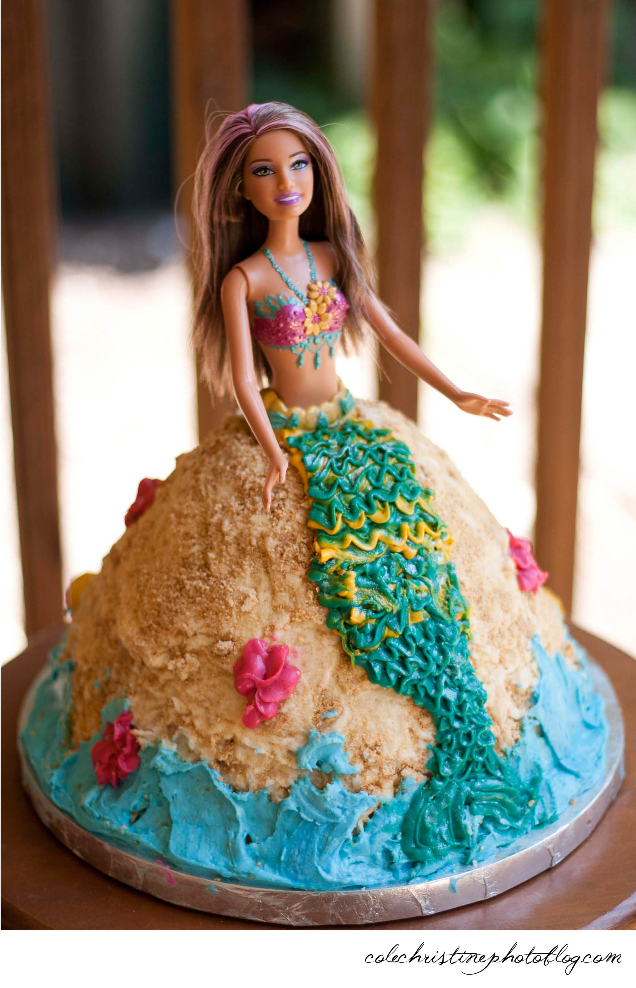 Mermaid Barbie Birthday Cake! Cole Christine Photography